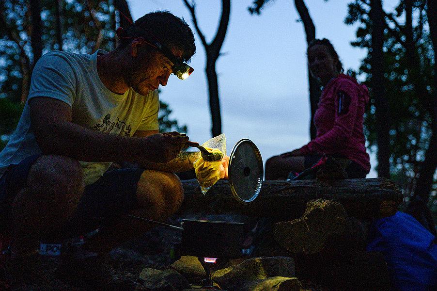 Abendessen auf dem Trekkingplatz
